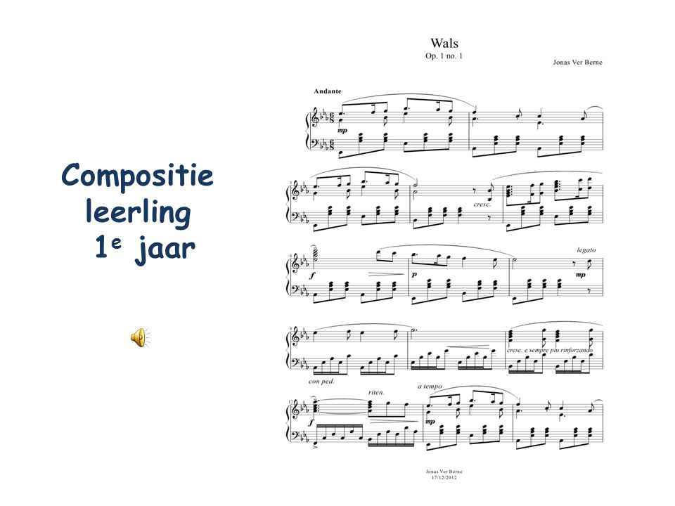 Compositie leerling 1e jaar
