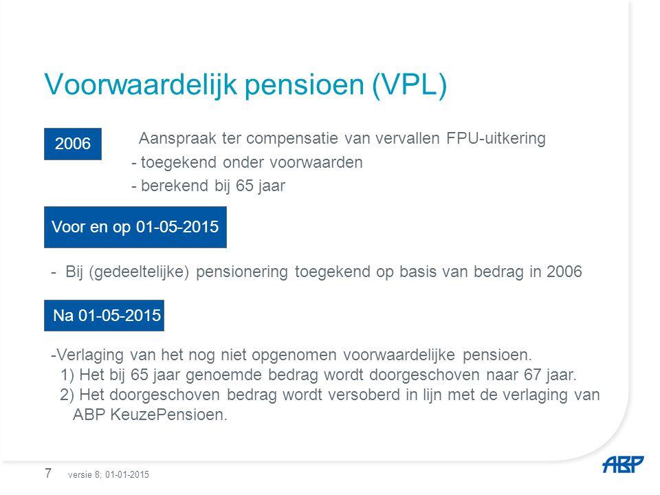 Voorwaardelijk pensioen (VPL)