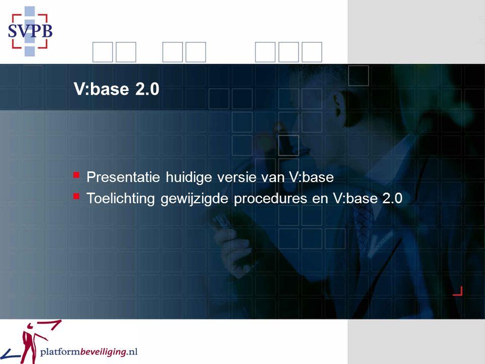 V:base 2.0 Presentatie huidige versie van V:base