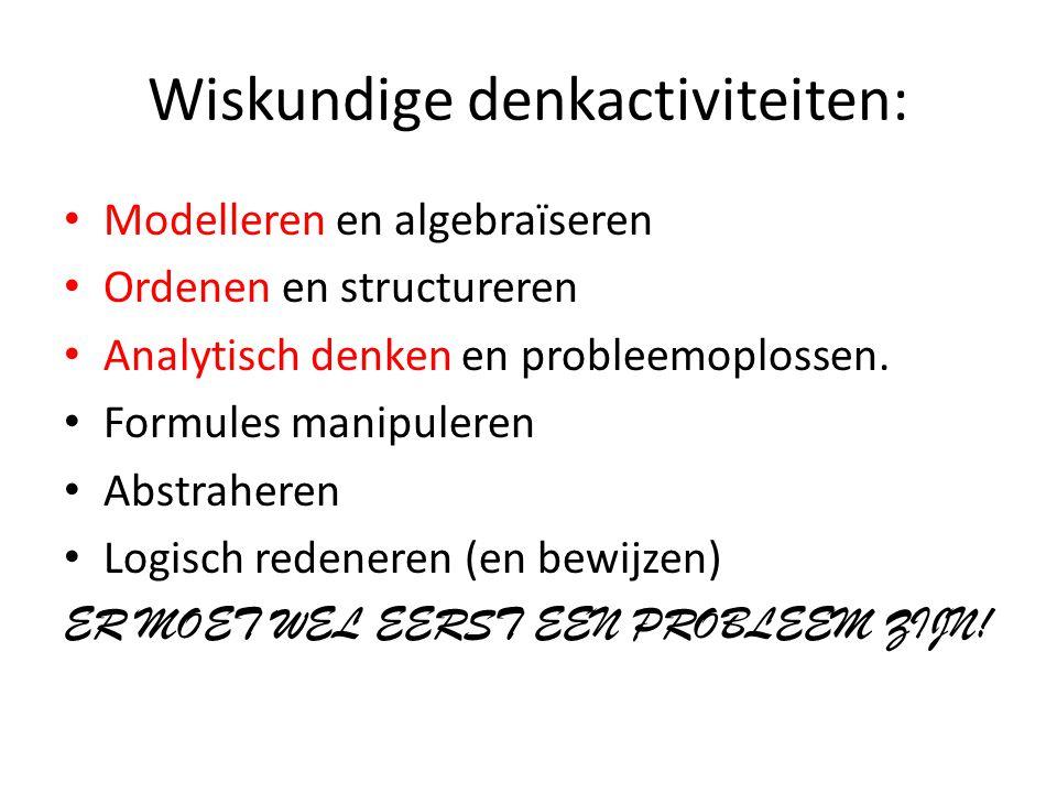 Wiskundige denkactiviteiten: