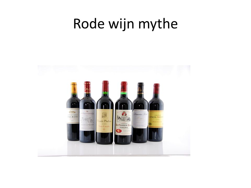 Rode wijn mythe