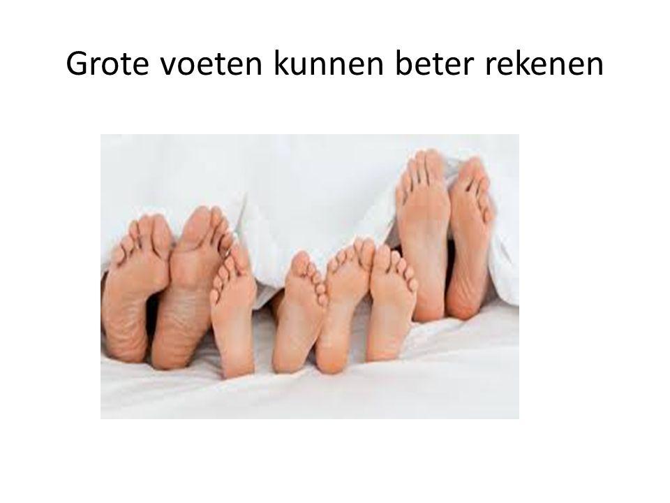 Grote voeten kunnen beter rekenen