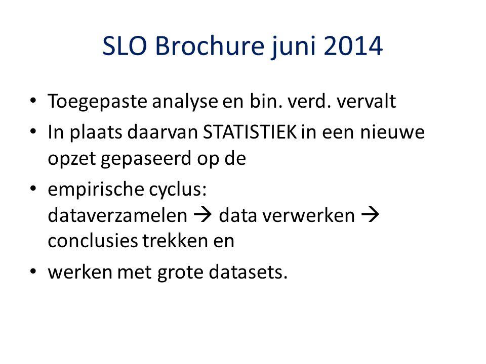 SLO Brochure juni 2014 Toegepaste analyse en bin. verd. vervalt