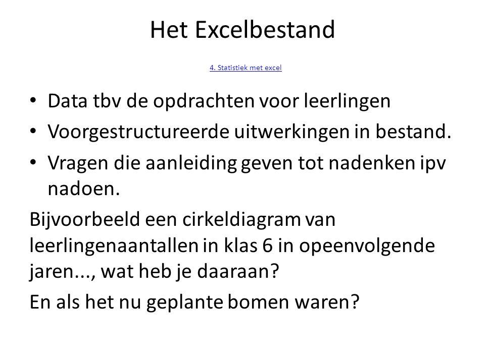 Het Excelbestand 4. Statistiek met excel