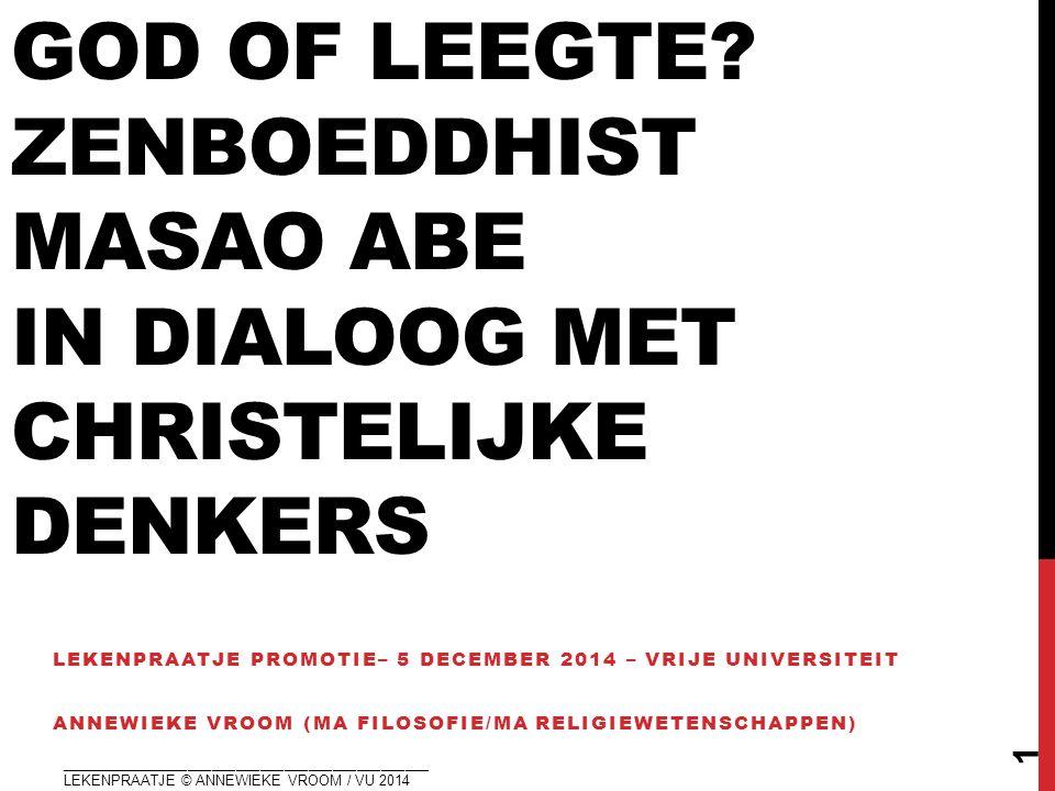 God of leegte Zenboeddhist masao abe in dialoog met christelijke denkers