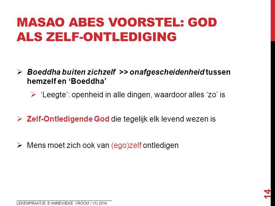 masao abes voorstel: GOD ALS zelf-ontledigING