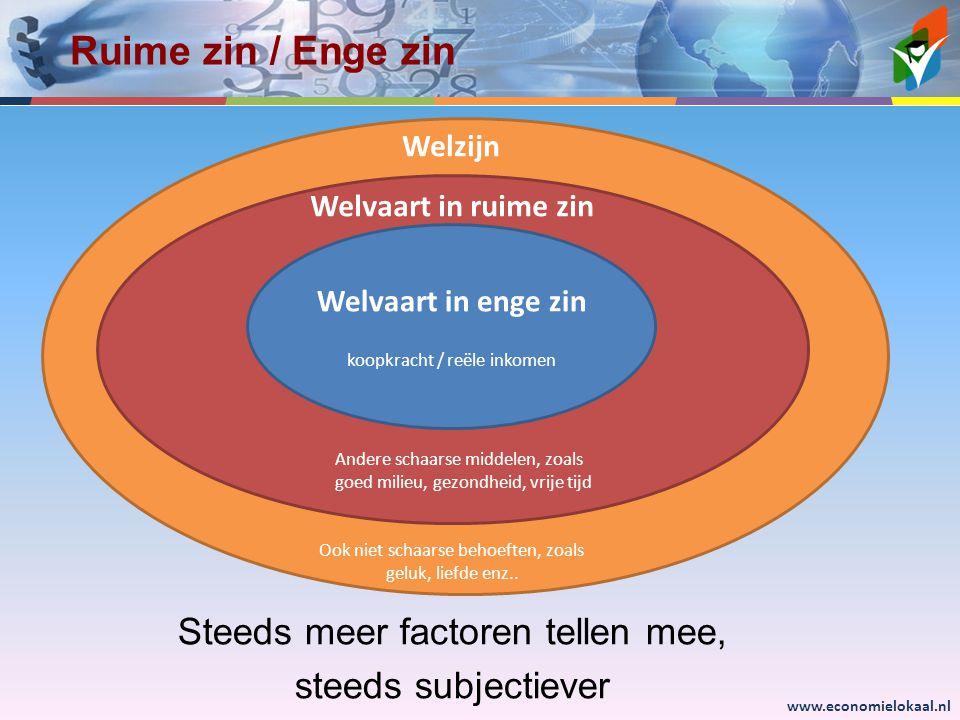 Ruime zin / Enge zin Steeds meer factoren tellen mee,