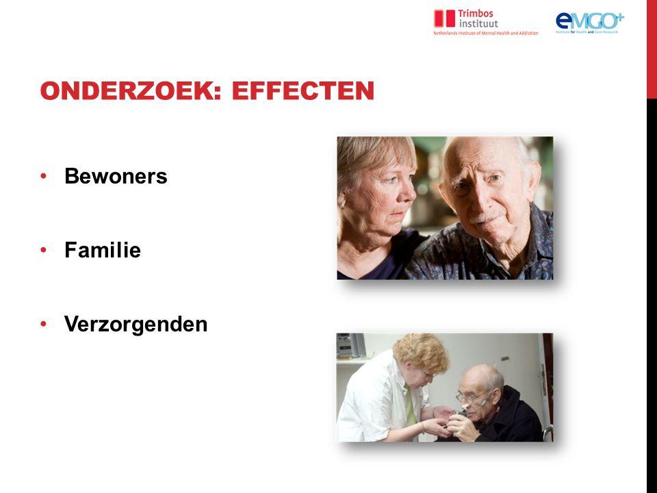 Onderzoek: effecten Bewoners Familie Verzorgenden