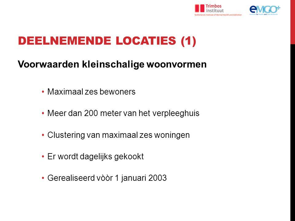 Deelnemende locaties (1)