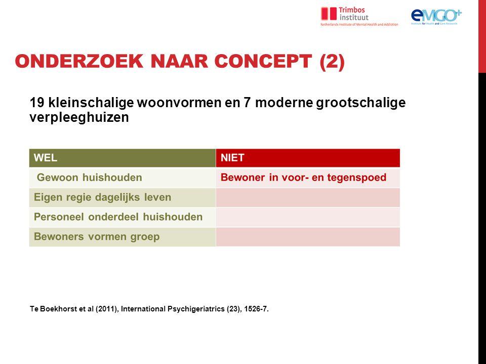 Onderzoek naar concept (2)