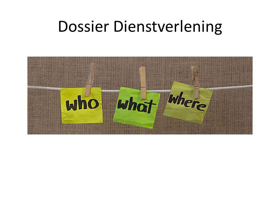 Dossier Dienstverlening