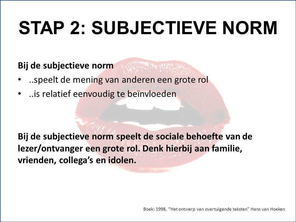 STAP 2: SUBJECTIEVE NORM