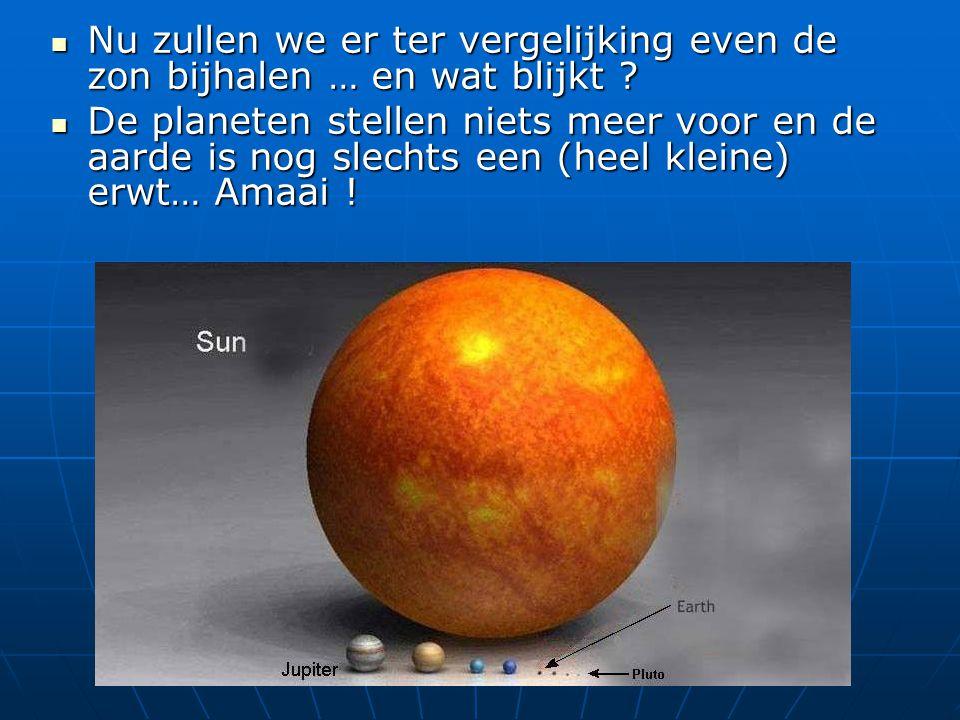 Nu zullen we er ter vergelijking even de zon bijhalen … en wat blijkt