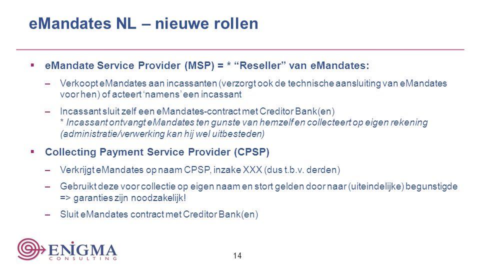 eMandates NL – nieuwe rollen
