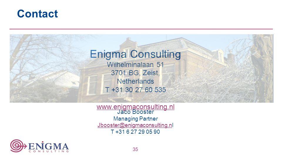 Contact Enigma Consulting Wilhelminalaan 51 3701 BG, Zeist,