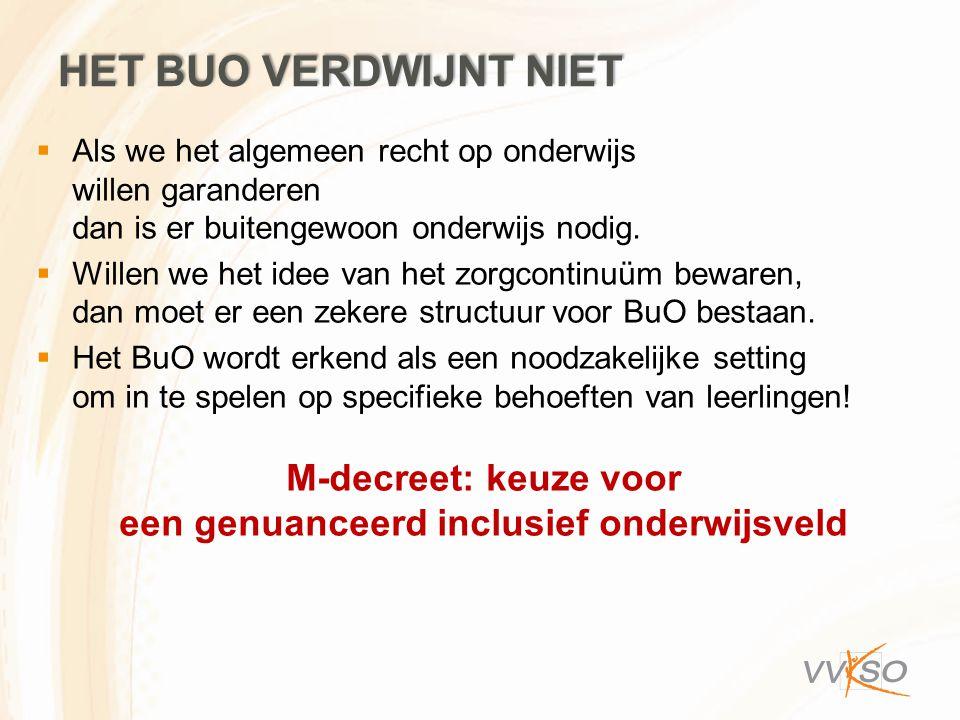 M-decreet: keuze voor een genuanceerd inclusief onderwijsveld