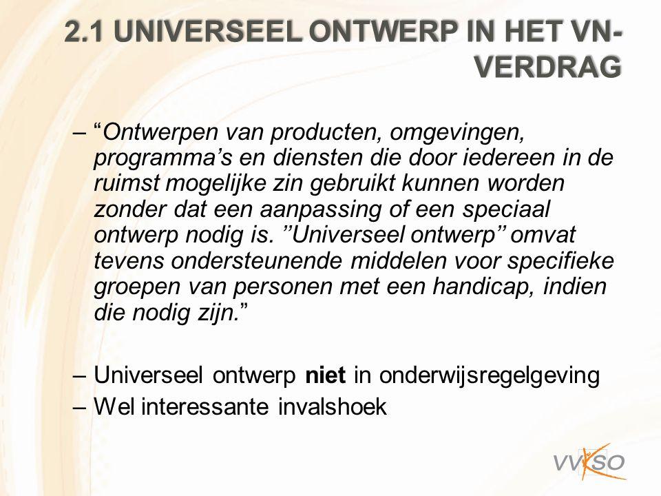 2.1 universeel ontwerp in het VN-verdrag