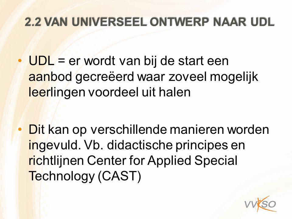 2.2 van universeel ontwerp naar UDL