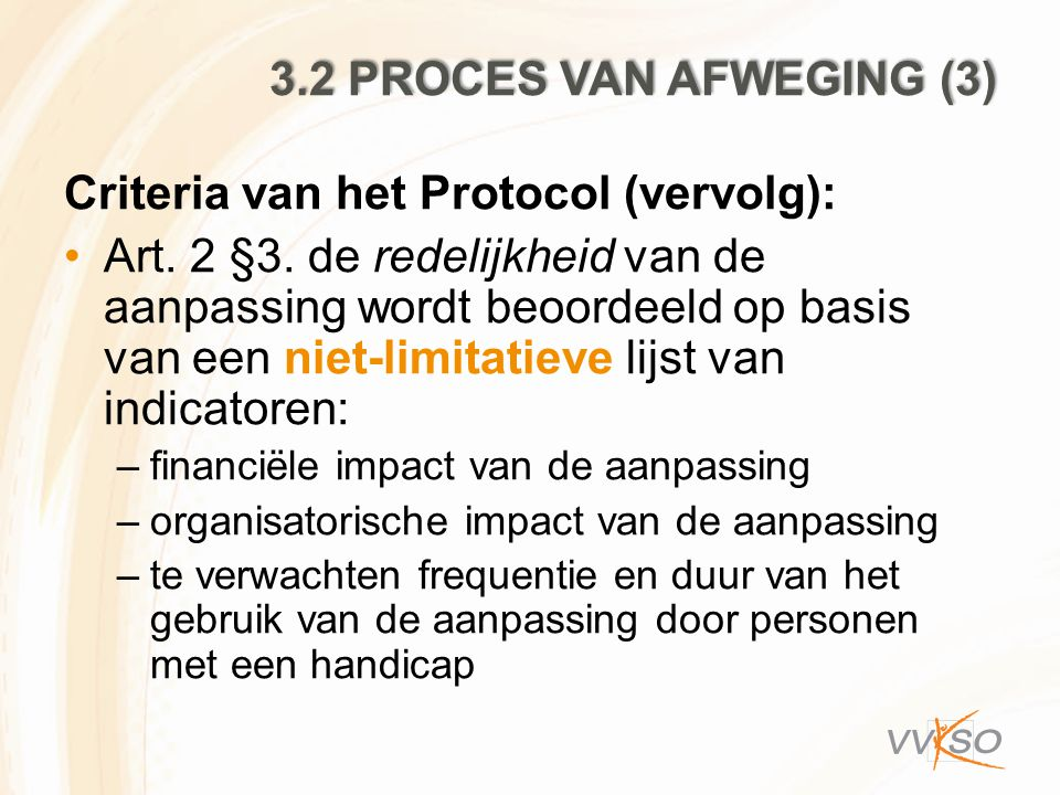 Criteria van het Protocol (vervolg):