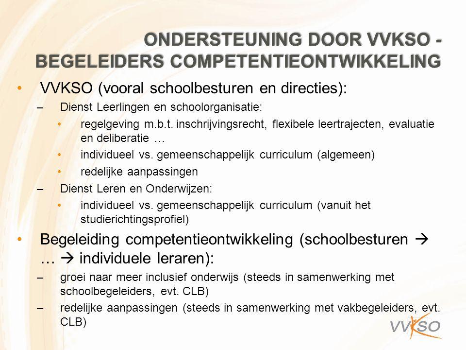 Ondersteuning door VVKSO - begeleiders competentieontwikkeling