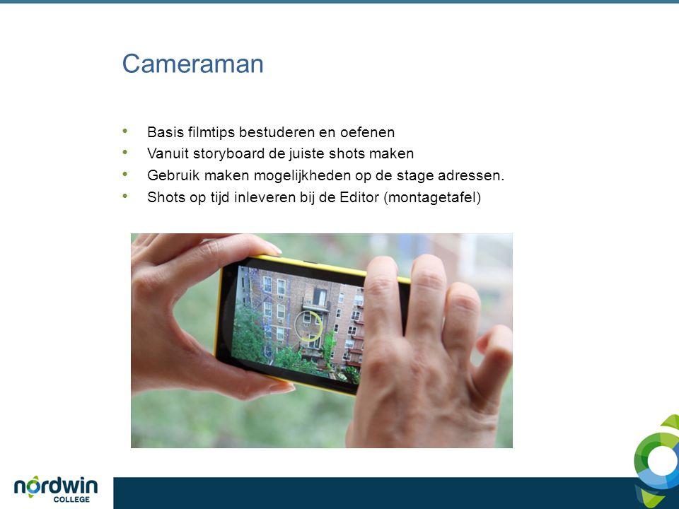 Cameraman Basis filmtips bestuderen en oefenen