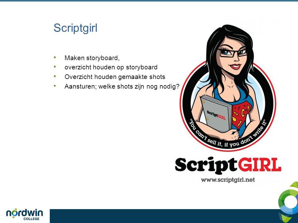 Scriptgirl Maken storyboard, overzicht houden op storyboard