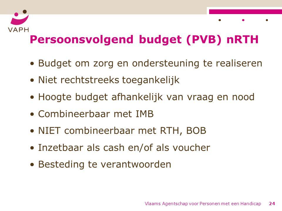 Persoonsvolgend budget (PVB) nRTH