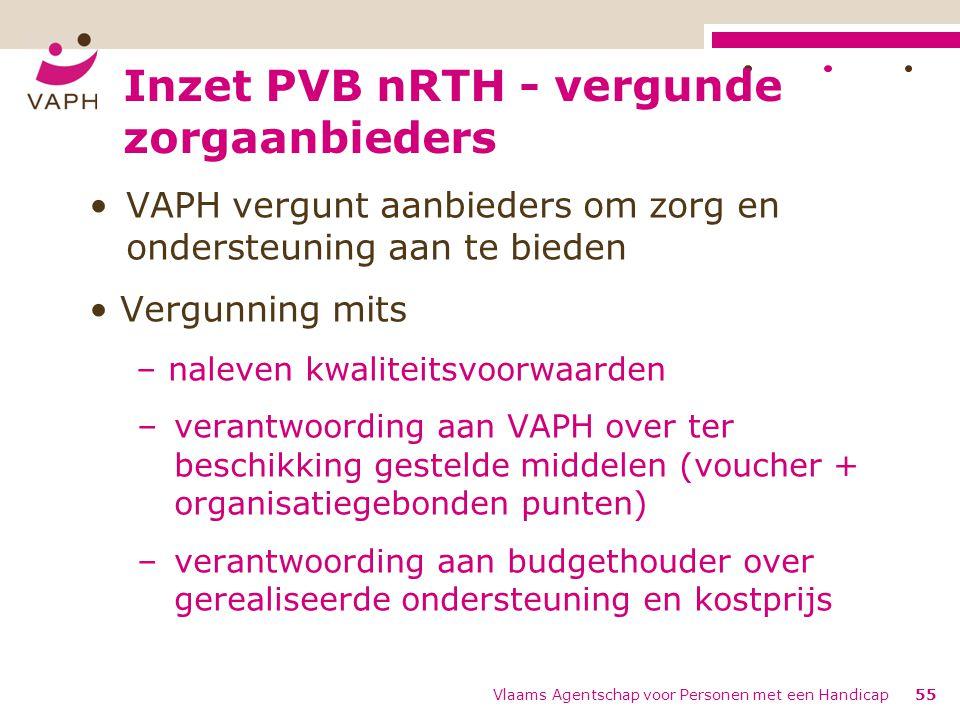 Inzet PVB nRTH - vergunde zorgaanbieders