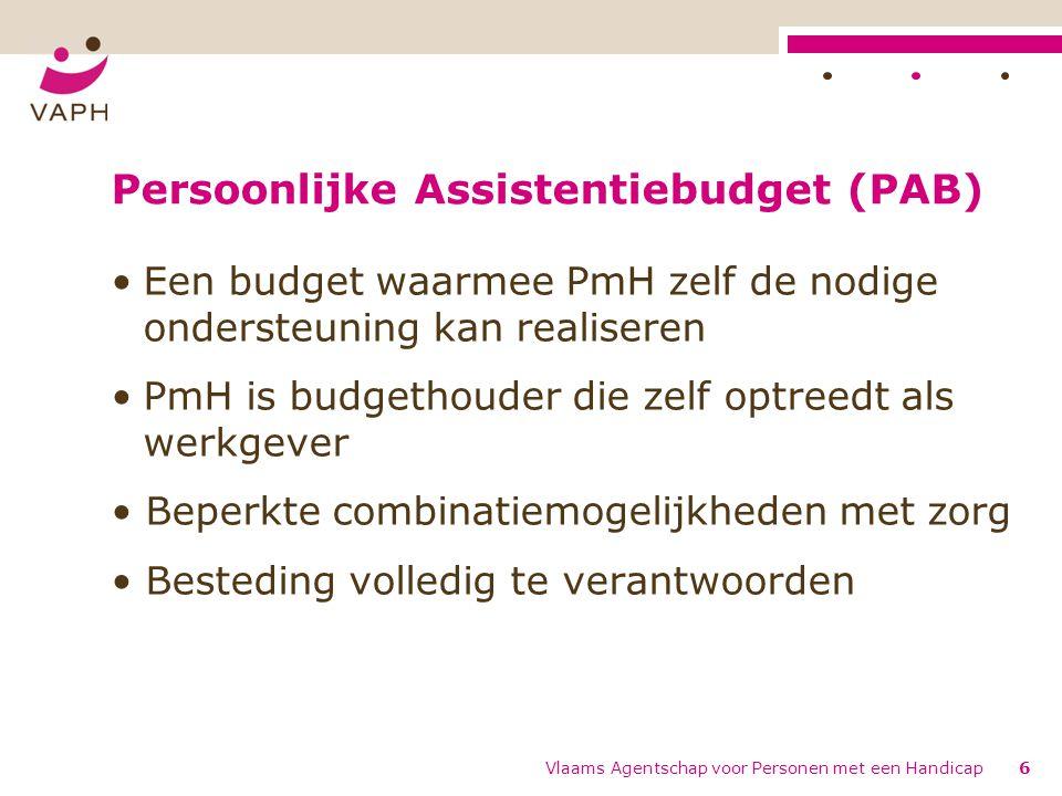 Persoonlijke Assistentiebudget (PAB)