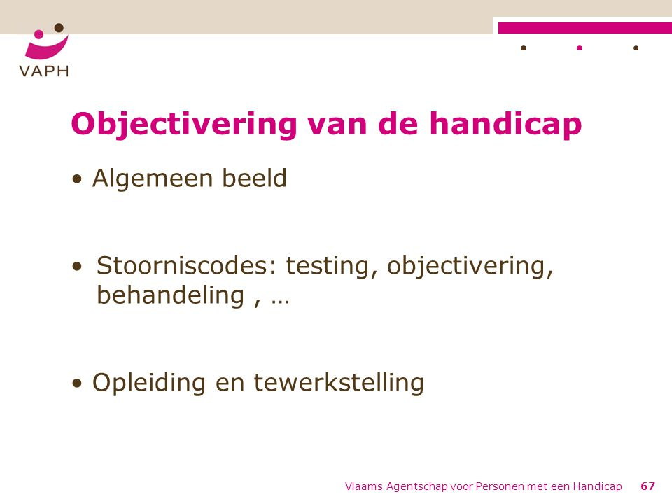 Objectivering van de handicap