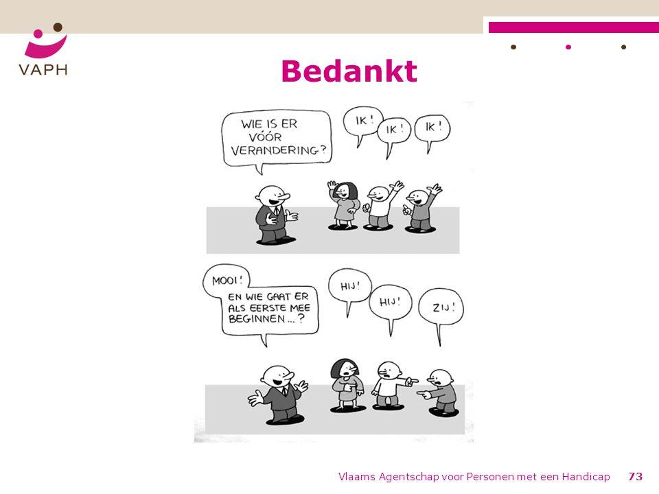 Bedankt Vlaams Agentschap voor Personen met een Handicap