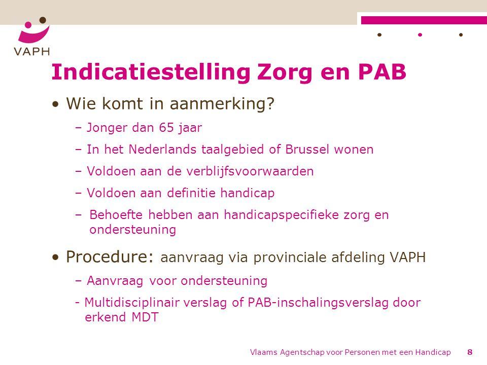 Indicatiestelling Zorg en PAB
