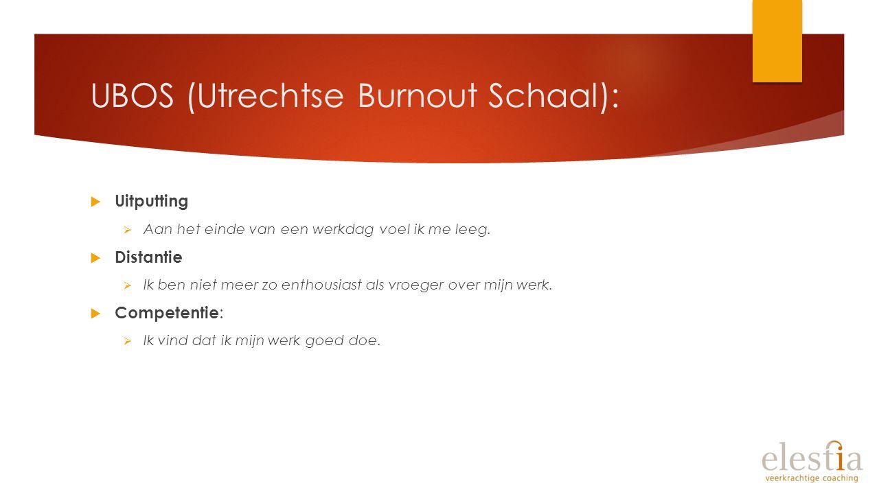 UBOS (Utrechtse Burnout Schaal):