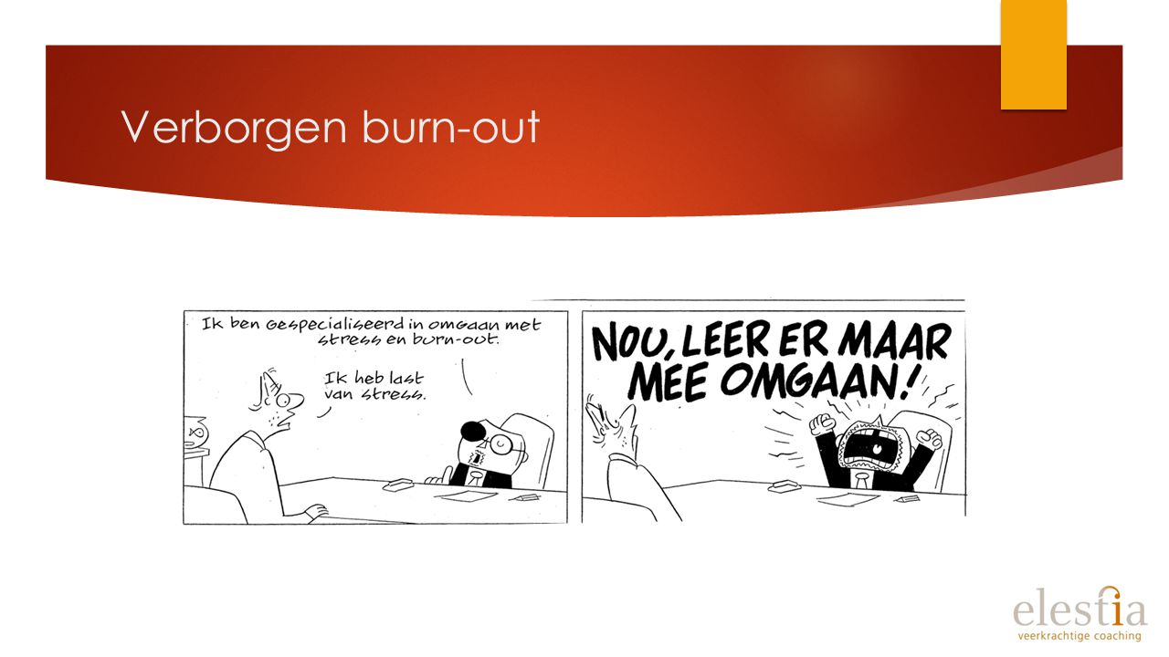 Verborgen burn-out