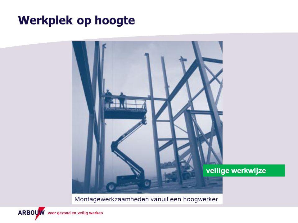Werkplek op hoogte veilige werkwijze