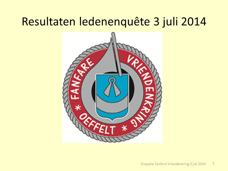 Resultaten ledenenquête 3 juli 2014