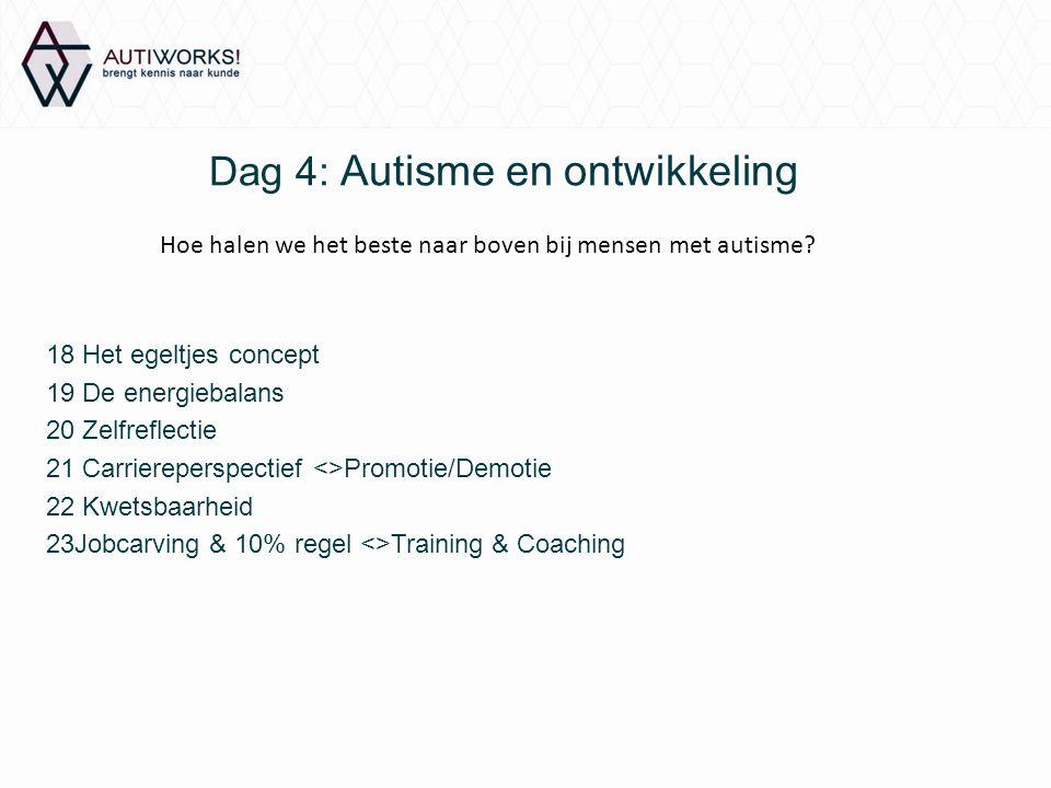 Dag 4: Autisme en ontwikkeling