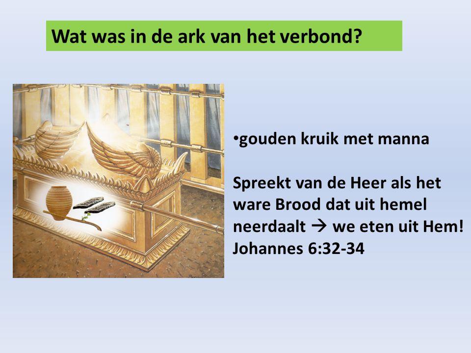 Wat was in de ark van het verbond