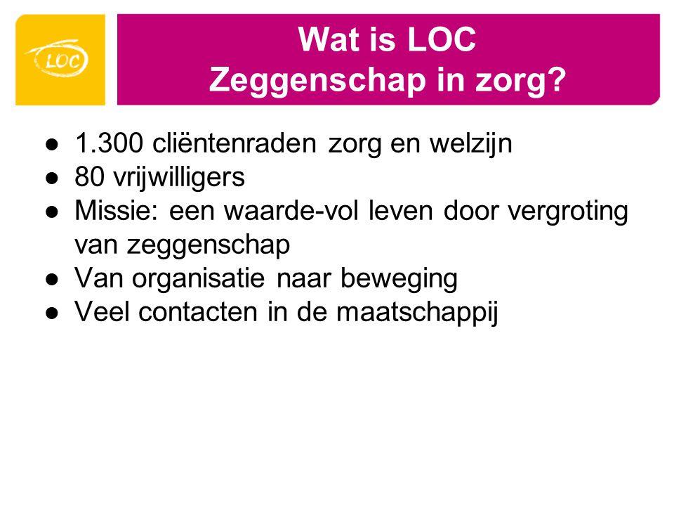 Wat is LOC Zeggenschap in zorg