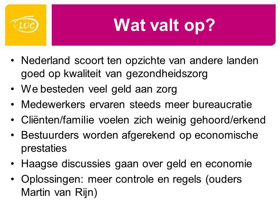 Wat valt op Nederland scoort ten opzichte van andere landen goed op kwaliteit van gezondheidszorg.