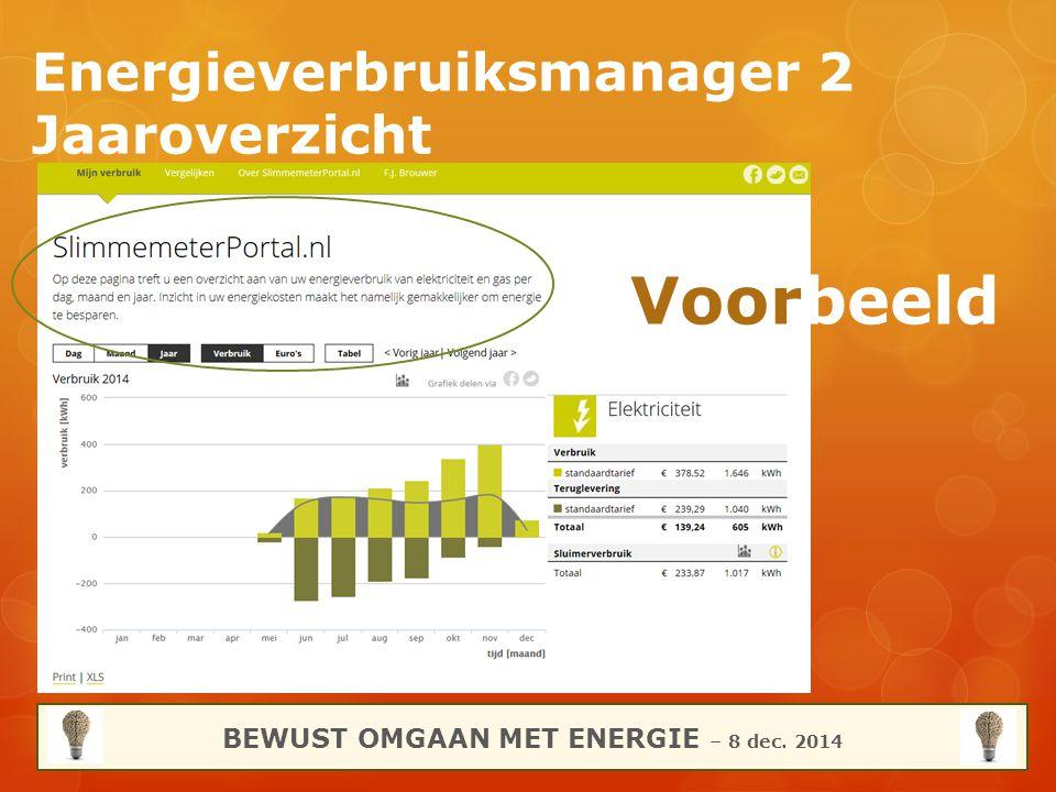 Energieverbruiksmanager 2 Jaaroverzicht