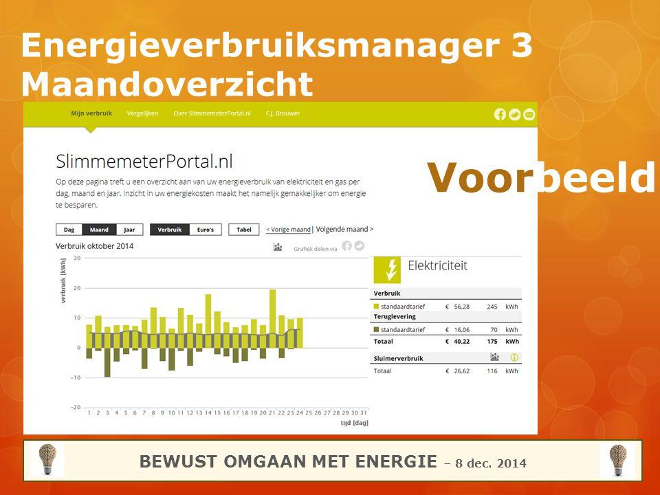 Energieverbruiksmanager 3 Maandoverzicht