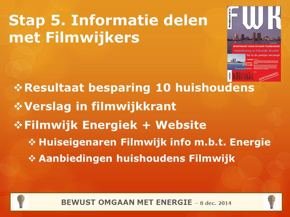 Stap 5. Informatie delen met Filmwijkers