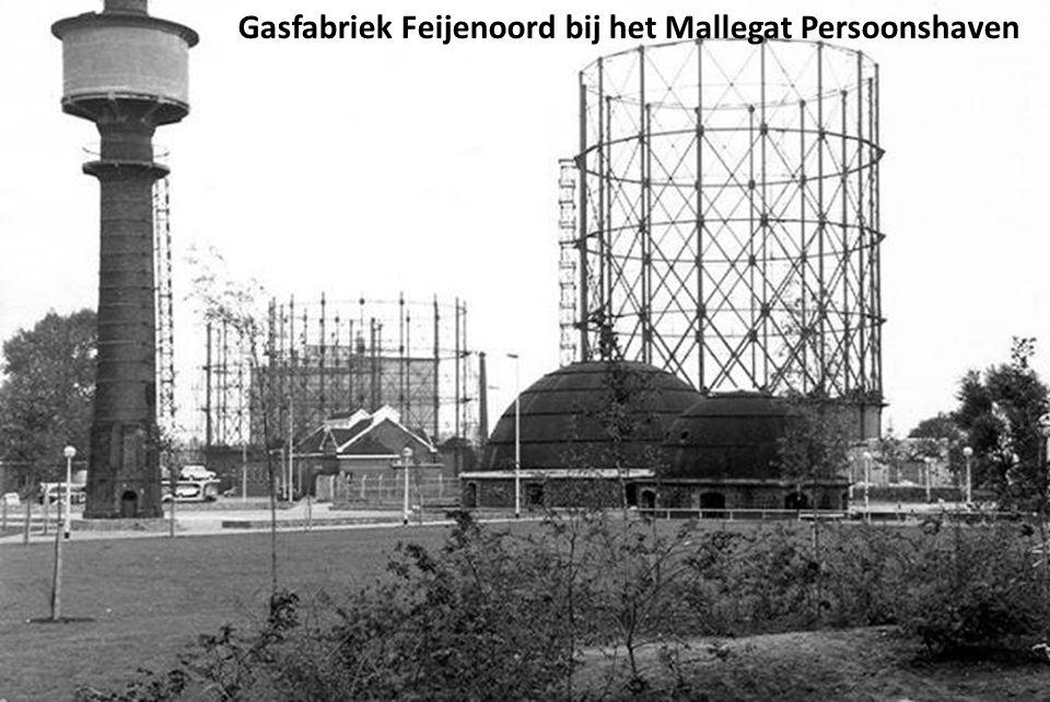 Gasfabriek Feijenoord bij het Mallegat Persoonshaven