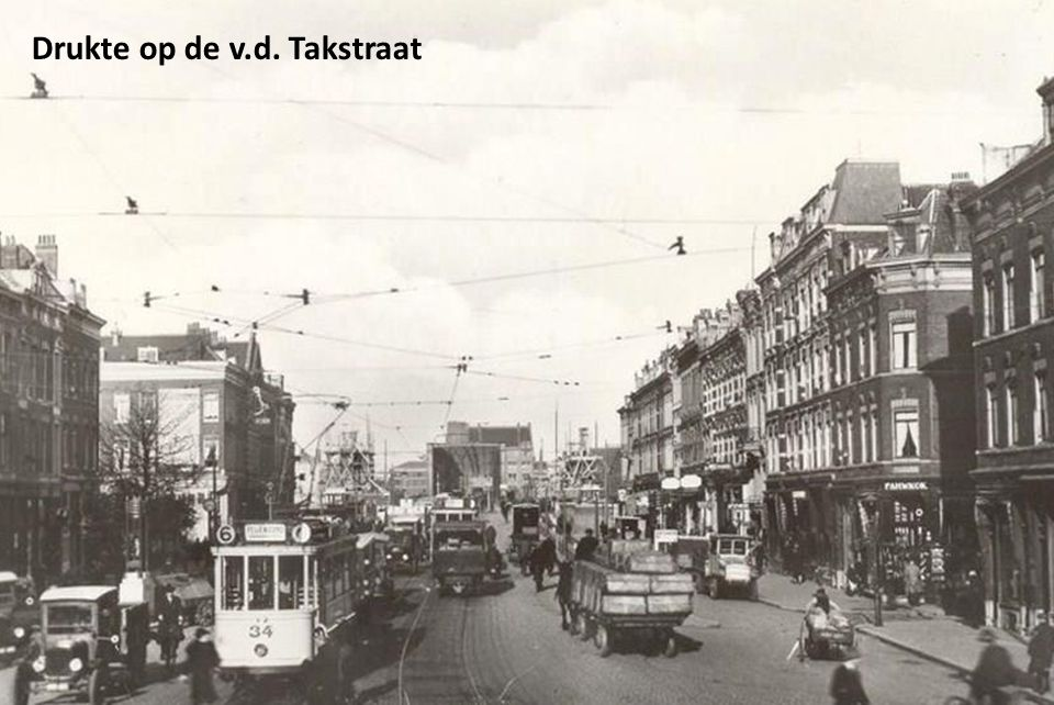 Drukte op de v.d. Takstraat