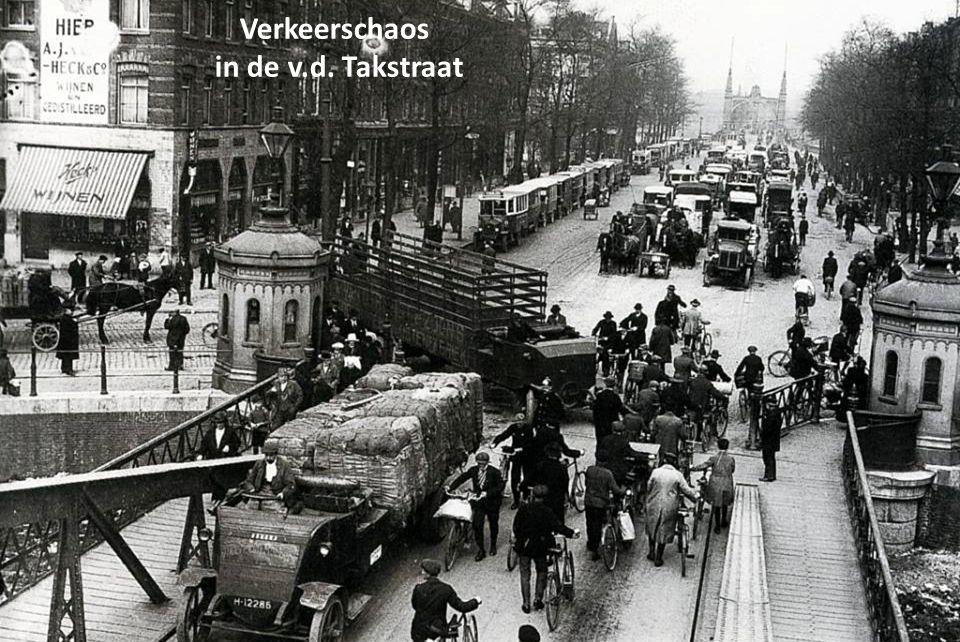 Verkeerschaos in de v.d. Takstraat