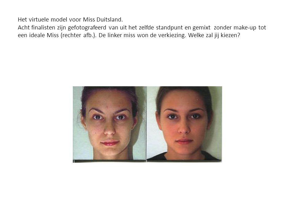 Het virtuele model voor Miss Duitsland