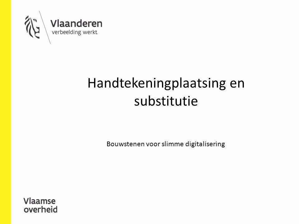 Handtekeningplaatsing en substitutie