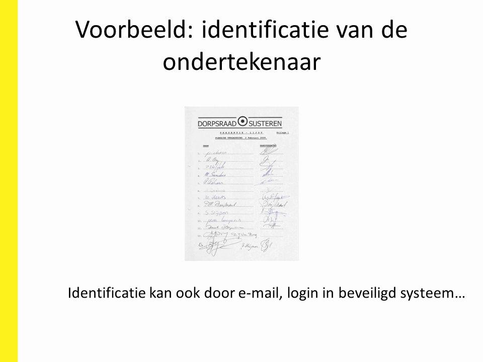 Voorbeeld: identificatie van de ondertekenaar