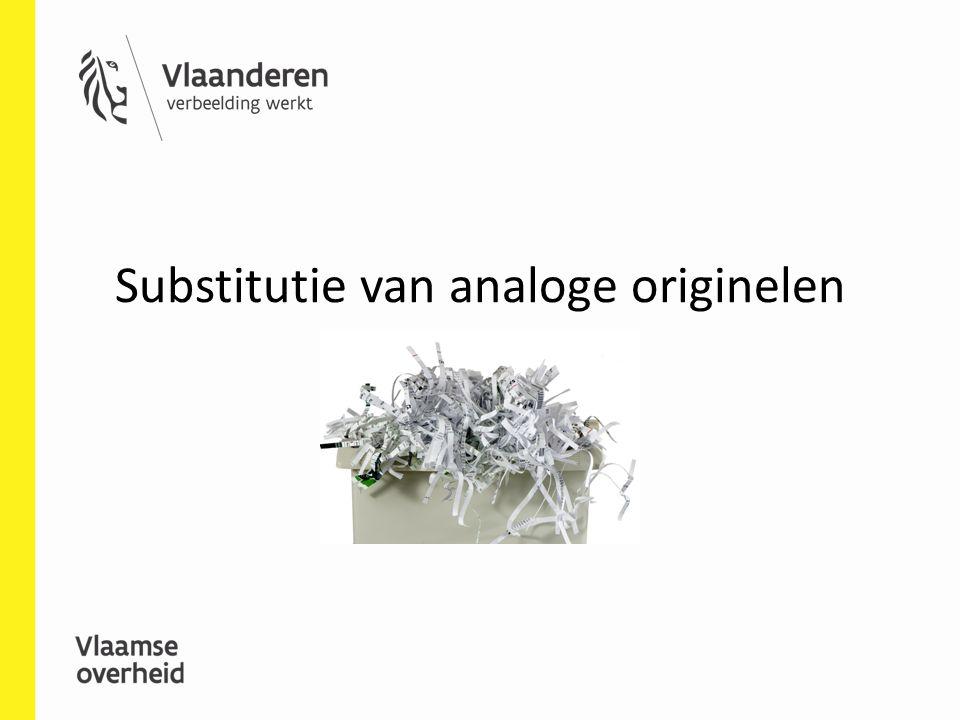 Substitutie van analoge originelen